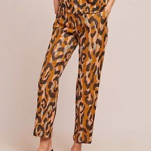Anthropologie leopard pants